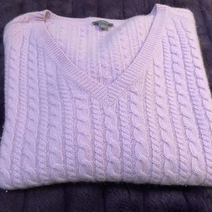 Ann Taylor 4 Ply Cashmere Cable Knit Sweater